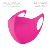 Hot Pink Polyester Face Mask
