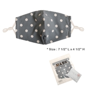 Fabric Light Blue Polka Dot Face Mask with Filter Pocket