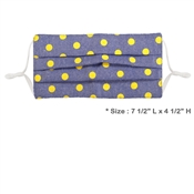 Blue Fabric with Yellow Polka Dot Face Mask with Filter Pocket