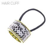 White Snake Print Hair Tie and Cover, Hot Fall Trend!