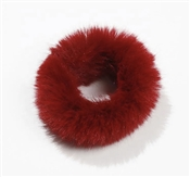 Red Fur Scrunchie, Best  Seller!