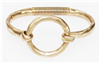 Gold Circle Hinged Bracelet