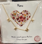 "Gold MAMA  16""-18"" Necklace"