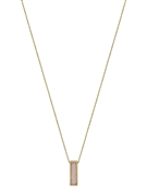 "Gold Chain with Natural Stone Rectangle 16""-18"" Necklace"