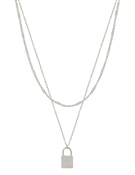 "Silver Chain with Locket 17""-19"" Necklace"