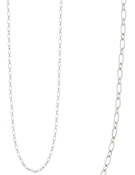 "Silver Link Chain 32"" Necklace"