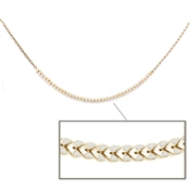 "Gold and White Arrowed 24"" Necklace"