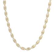 "Satin Gold Flat Coin 16""-18"" Necklace"