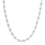 "Matte Silver Flat Coin 16""-18"" Necklace"