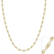 "Gold Lock Detail Chain 16""-18"" Necklace, Great for Layering!"