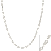 "Silver Lock Detail Chain 16""-18"" Necklace, Great for Layering!"
