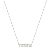 "Silver 16""-18"" Mama Necklace"