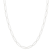 "Silver 16""-18"" Thin Chain Necklace, Great for Layering!"