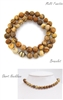 Natural Jasper  Stone  Bracelet/Necklace