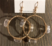 Clear Crystal Wire Wrapped Earring