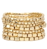 Matte Gold 7 Row Stretch Bracelet