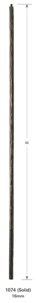 "1074: 44"" Large Hammered Round Bar Baluster"