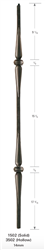 "1502: 44"" Solid Spoon Baluster w/ Double Knuckle"