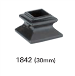 Crown Heritage Iron Shoes & Accessories - 1842: 30mm Newel Shoe | Stair Part Pros