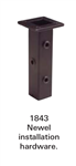 Crown Heritage Iron Shoes - 1843: Newel Installation Kit | Stair Part Pros