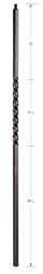 2101: Hollow Single Twist Baluster