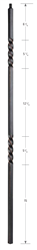 2102: Hollow Double Twist Baluster