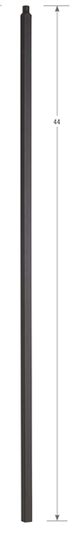 2700: Hollow Plain Square Bar Baluster