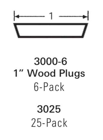 3000: Tapered Wood Plugs