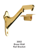 3002: Brass Wall Rail Bracket