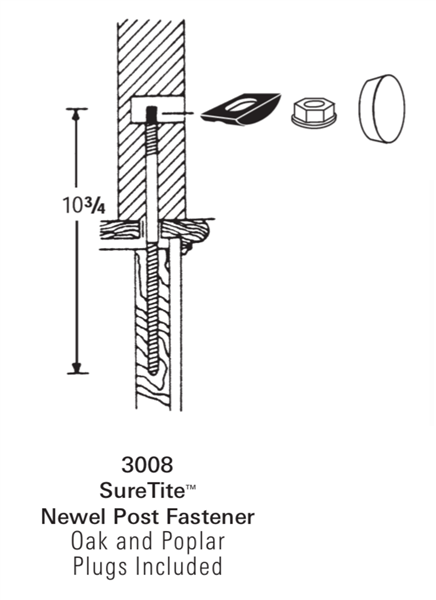 "3008: SureTiteâ""¢ Newel Post Fastener"
