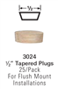 Stair Hardware & Accessories - 3024: Tapered Wood Plugs | Stair Part Pros