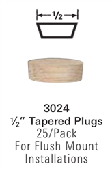 3024: Tapered Wood Plugs