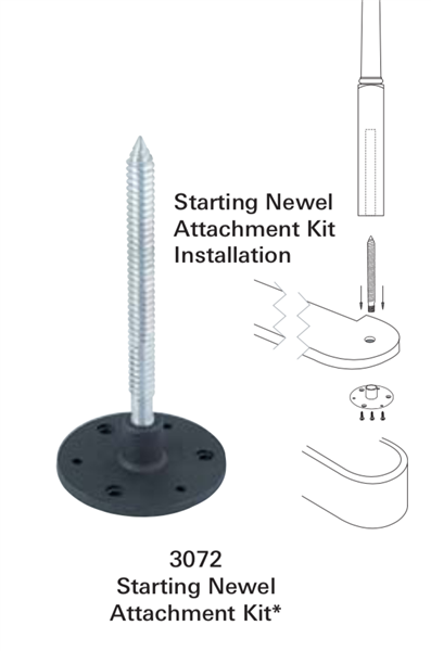 3072: Starting Newel Attachment Kit