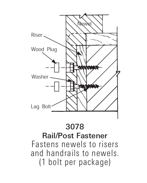 Stair Hardware, Mounting & Accessories - 3078: Rail/Post Fastener | Stair Part Pros