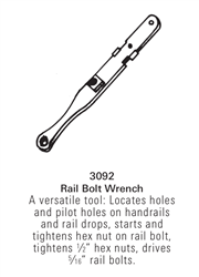 3092: Rail Bolt Wrench