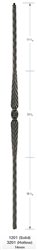 "3201: 44"" Hollow Feather Baluster"