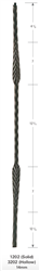 "3202: 44"" Hollow Split Feather Baluster"