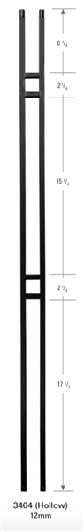 3404: Hollow Double Bar Baluster