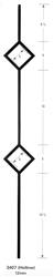 "3407: 44"" Hollow Double Diamond Baluster"