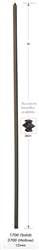 3700: Hollow Plain Square Bar Baluster