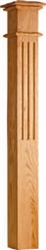 Wooden Stair Parts - 4082 Series Fluted Box Newel Post | Stair Part Pros