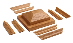 4094-CT Cap & Trim - Crown Heritage Box Newels for Stairs | Stair Part Pros