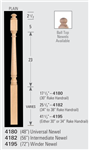 Wood Baluster & Newel Parts 4182: Universal Post-to-Post Newel | Stair Part Pros