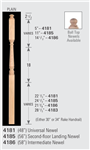 Wood Baluster & Newel Parts 4186: Universal Post-to-Post Newel | Stair Part Pros