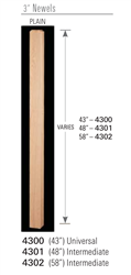 Wood Balusters & Newel Stair Parts 4300: Universal Newel | Stair Part Pros
