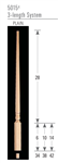 Wood Baluster & Newel Stair Parts 5015: Pin Top Baluster | Stair Part Pros
