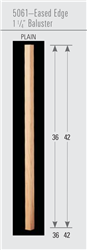 Wood Baluster & Newel Parts 5061: Eased Edge Square Baluster | Stair Part Pros
