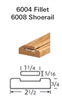 Crown Heritage Shoerail & Fillet Stair Parts 6008: Shoerail | Stair Part Pros