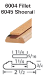 Crown Heritage Shoerail & Fillet Stair Parts 6045: Shoerail | Stair Part Pros
