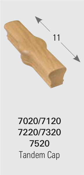 7020 Tandem Cap - 6010 Staircase Handrail Fittings | Stair Part Pros